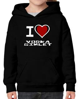 I Love Vodka Gimlet Hoodie-Girls