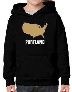 Portland - Usa Map Hoodie-Girls