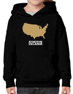 Staten Island - Usa Map Hoodie-Girls