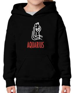 Aquarius - Cartoon Hoodie-Girls