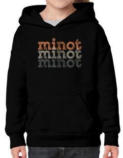 Minot repeat retro Hoodie-Girls