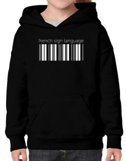 French Sign Language barcode Hoodie-Girls