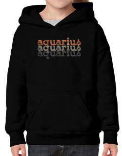Aquarius repeat retro Hoodie-Girls