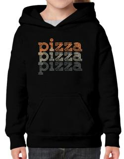 Pizza repeat retro Hoodie-Girls
