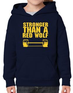 Stronger Than A Red Wolf Hoodie-Girls