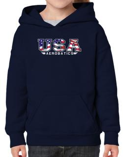 Usa Aerobatics / Flag Clip - Army Hoodie-Girls
