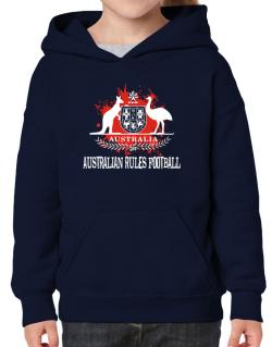 Australia Australian Rules Football / Blood Hoodie-Girls