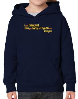 I Am Bilingual, I Can Get Horny In English And Abanyom Hoodie-Girls