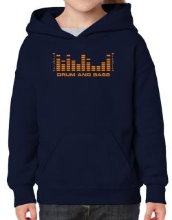 Drum And Bass - Equalizer Hoodie-Girls
