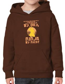 Industrial Plant Cleaner By Day, Ninja By Night Hoodie-Girls