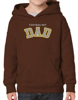 Footbag Net Dad Hoodie-Girls