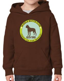Boston Terrier - Wiggle Butts Club Hoodie-Girls