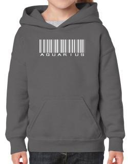 Aquarius Barcode / Bar Code Hoodie-Girls