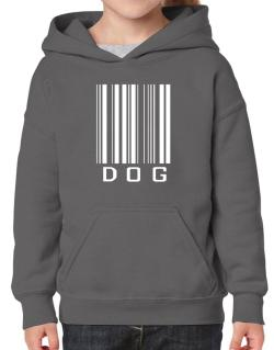 Dog Barcode / Bar Code Hoodie-Girls