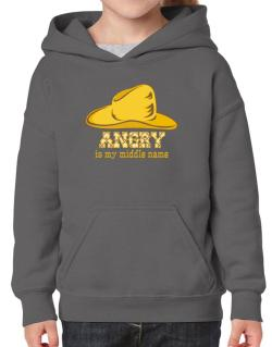Angry Is My Middle Name Hoodie-Girls