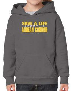 Save A Life, Adopt An Andean Condor Hoodie-Girls