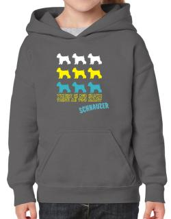 """ THERE IS NO SUCH THING AS TOO MANY Schnauzer "" Hoodie-Girls"