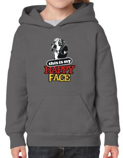 Happy Face Beagle Hoodie-Girls