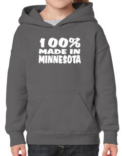 100% Made In Minnesota Hoodie-Girls