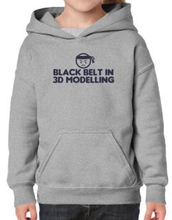 Black Belt In 3d Modelling Hoodie-Girls
