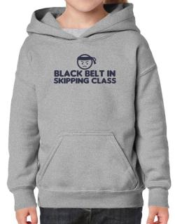 Black Belt In Skipping Class Hoodie-Girls