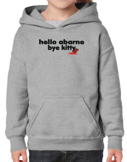Hello Abarne Bye Kitty Hoodie-Girls