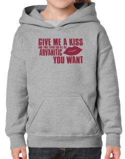 Give Me A Kiss And I Will Teach You All The Arvanitic You Want Hoodie-Girls
