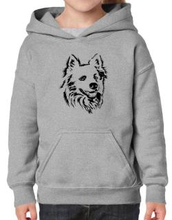 American Eskimo Dog Face Special Graphic Hoodie-Girls