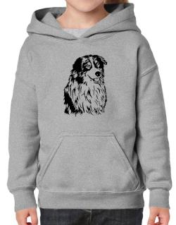 Australian Shepherd Face Special Graphic Hoodie-Girls