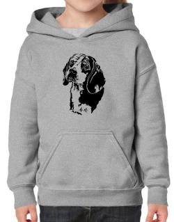 Beagle Face Special Graphic Hoodie-Girls