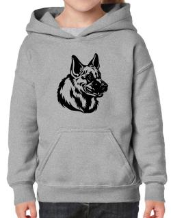 """ Belgian Malinois FACE SPECIAL GRAPHIC "" Hoodie-Girls"
