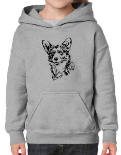 Pembroke Welsh Corgi Face Special Graphic Hoodie-Girls