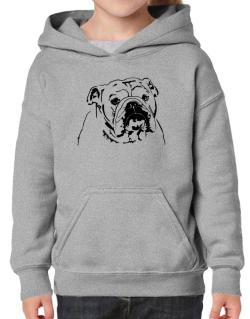American Bulldog Face Special Graphic Hoodie-Girls