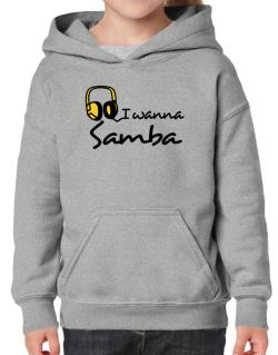 I Wanna Samba - Headphones Hoodie-Girls