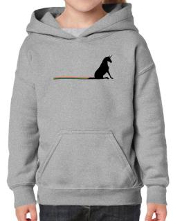 Unicorn Rainbow Poop Hoodie-Girls