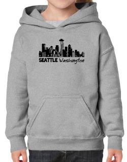 Seattle, Washington skyline Hoodie-Girls