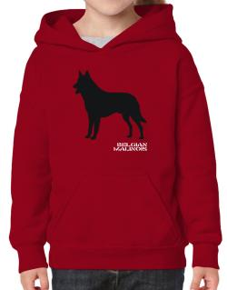Belgian Malinois Stencil / Chees Hoodie-Girls