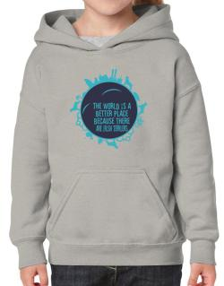 Better Place Irish Terriers Hoodie-Girls
