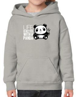 Life is better with a panda Hoodie-Girls