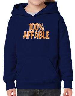 100% Affable Hoodie-Girls