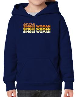 Apple Single Woman Hoodie-Girls