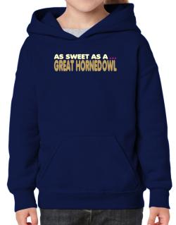 As Sweet As A Great Horned Owl Hoodie-Girls