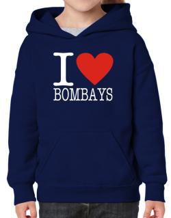 I Love Bombays Hoodie-Girls