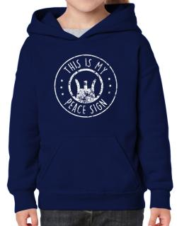 This is My Peace Sign Hoodie-Girls