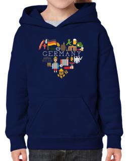 I love Germany Hoodie-Girls