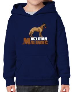 Belgian malinois cute dog Hoodie-Girls