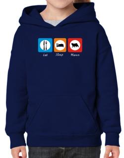 Eat sleep Manx Hoodie-Girls