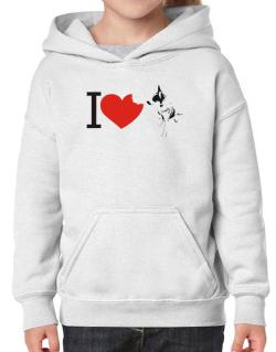 I love Australian Cattle Dogs Hoodie-Girls