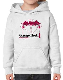 """  Grunge Rock plugged into the sound "" Hoodie-Girls"