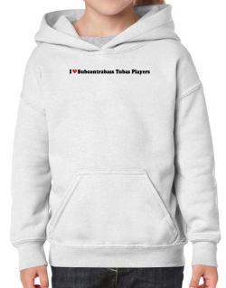 I Love Subcontrabass Tubas Players Hoodie-Girls